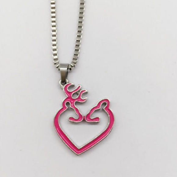 Browning Jewelry Heart Deer Couple Charm Necklace Poshmark